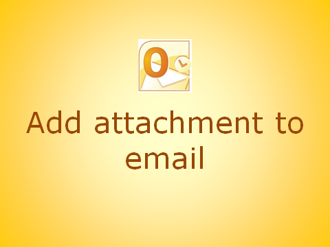 How to attach a file to an email