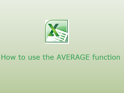 How to use AVERAGE function