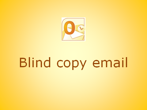How to add the Blind Copy field