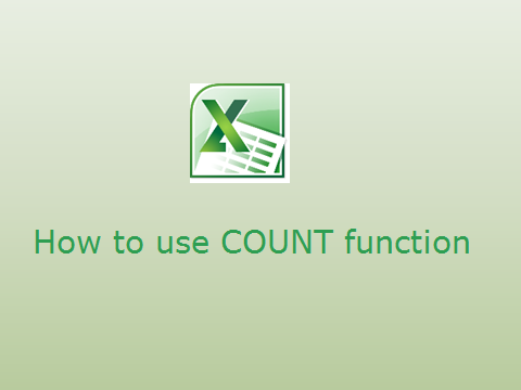 How to use COUNT function