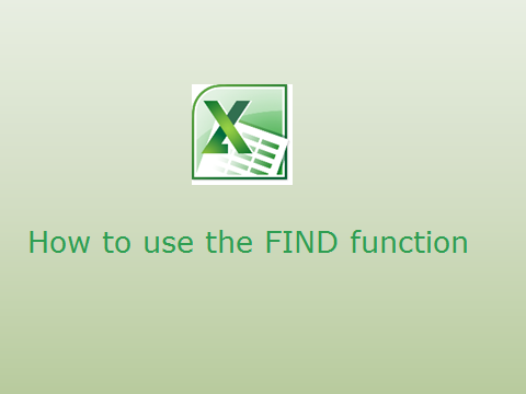 How to use the FIND function