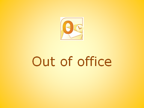 How to - Out of office