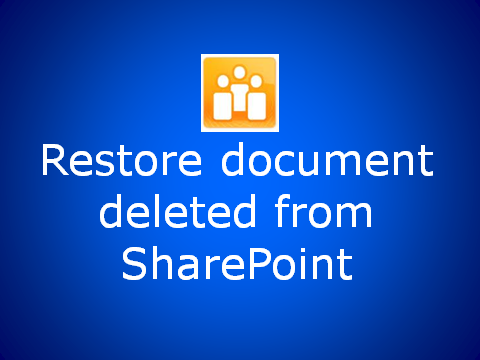 Restoring documents