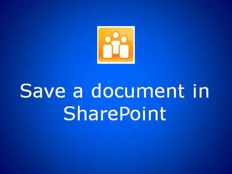 How to save to SharePoint