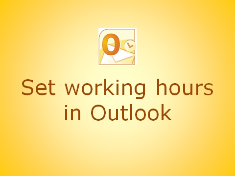 How to set your working hours