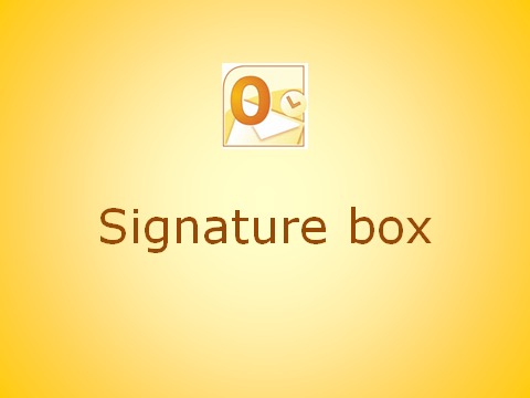 How to copy your signature box